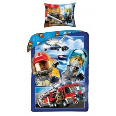 SINGLE DUVET SET 140 X 200 CM LEGO CITY LEGO-822BL