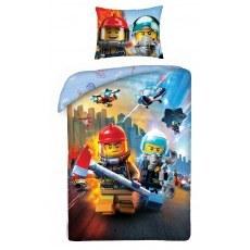 POŚCIEL BAWEŁNIANA 140 X 200 CM LEGO CITY LEGO-823BL