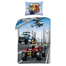 SINGLE DUVET SET 140 X 200 CM LEGO CITY LEGO-824BL