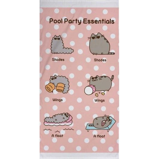 BATH TOWEL 70 X 140 CM PUSHEEN CAT POOL PARTY PUS-017T