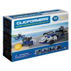 CLICFORMERS MINI TRANSPORTATION SET 4IN1 30 PCS