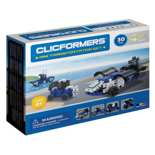 KLOCKI CLICFORMERS TRANSPORTOWCE 4W1 30 ELEMENTÓW