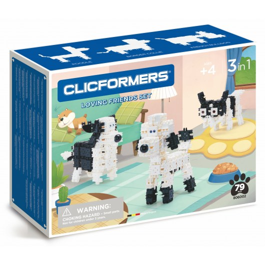 CLICFORMERS LOVING FRIENDS SET 3IN1 79 PCS