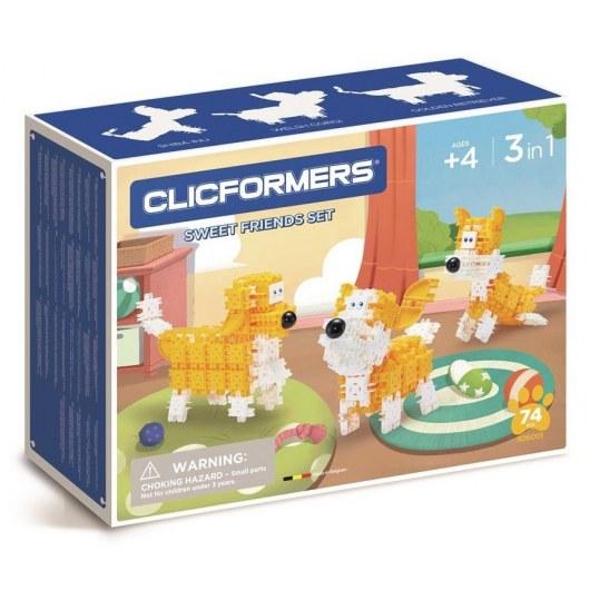 CLICFORMERS SWEET FRIENDS SET 3IN1 74 PCS