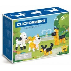 CLICFORMERS PUPPY FRIENDS SET 9IN1 123 PCS