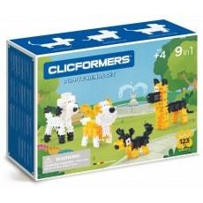 KLOCKI CLICFORMERS PUPPY FRIENDS SET 9W1 123 ELEMENTY