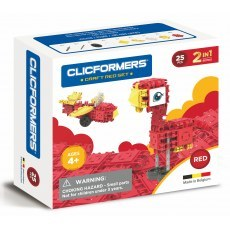 KLOCKI CLICFORMERS CRAFT SET RED 2W1 25 ELEMENTOW