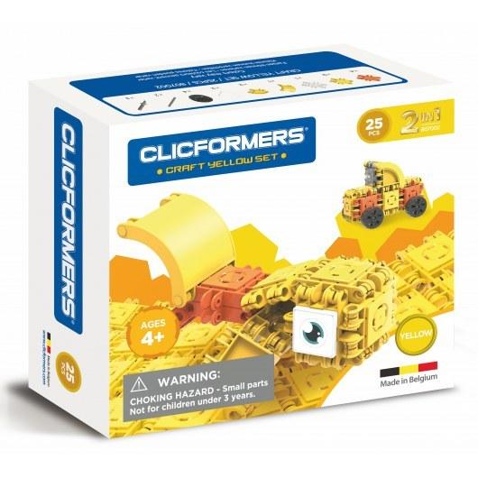 CLICFORMERS CRAFT SET YELLOW 2W1 25 PCS