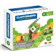 CLICFORMERS CRAFT SET GREEN 2W1 25 PCS