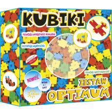 ABINO KLOCKI KUBIKI ZESTAW OPTIMUM 138 ELEMENTOW