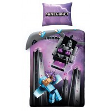 SINGLE DUVET SET 140 X 200 CM MINECRAFT MNC-130BL