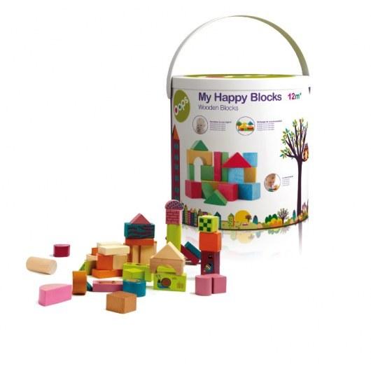 OOPS MY HAPPY BUILDING BLOCKS - WODDEN BLOCK 50 PCS 16001.00