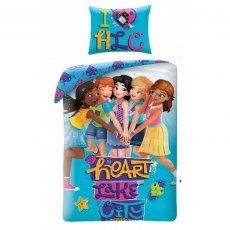 SINGLE DUVET SET 140 X 200 CM LEGO FRIENDS LEG-713BL