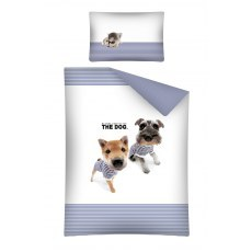 BABY BEDDING SET 100 X 135 CM THE DOG BLUE
