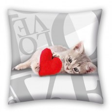 HAPPY VALENTINES DAY CUSHION 40 X 40 CM CAT VAL-16C