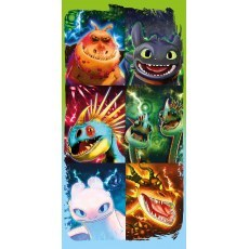 BATH TOWEL 70 X 140 CM HOW TO TRAIN YOUR DRAGON HTTD-90T