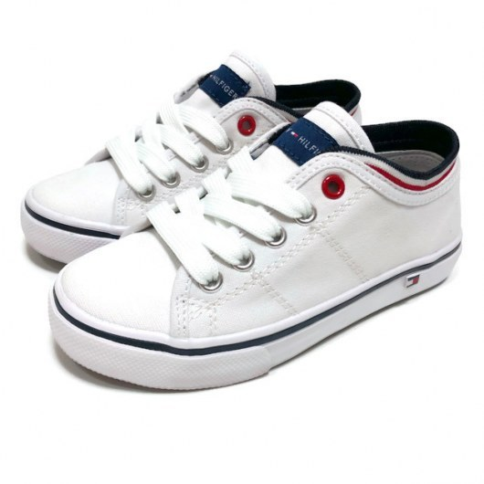 LOW CUT LACE-UP SNEAKER TOMMY HILFIGER WHITE 33-38