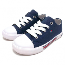 LOW CUT LACE-UP SNEAKER TOMMY HILFIGER BLUE 39-41
