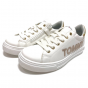 LOW CUT LACE-UP SNEAKER WHITE/GOLD X068