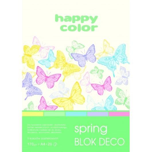 BLOCK A4 HAPPY COLOR DECO SPRING 170G