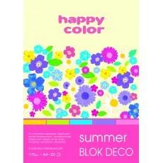 BLOK DEKORACYJNY A4 HAPPY COLOR DECO SUMMER 170G