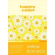 BLOCK A4 HAPPY COLOR DECO YELLOW 170G