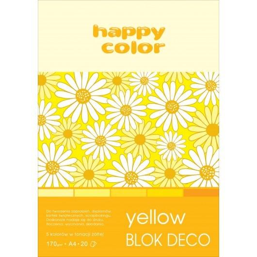 BLOCK A4 HAPPY COLOR DECO YELLOW 170G