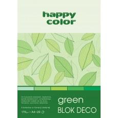 BLOK DEKORACYJNY A4 HAPPY COLOR DECO GREEN 170G