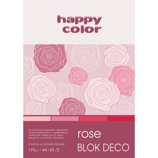 BLOCK A4 HAPPY COLOR DECO ROSE 170G