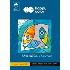 BLOK MALARSKI A4 HAPPY COLOR MLODY ARTYSTA 200G