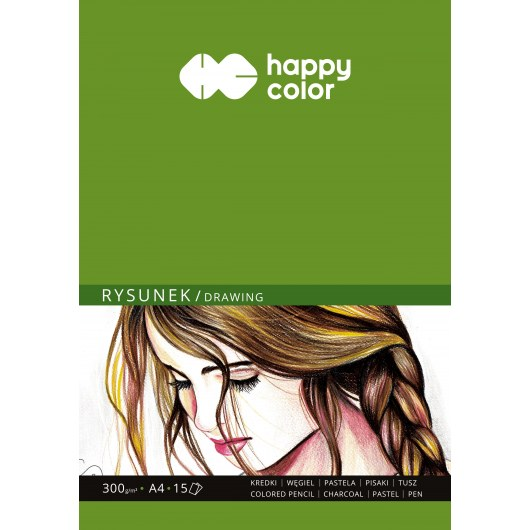 BLOCK FOR DRAWING A4 HAPPY COLOR 300G