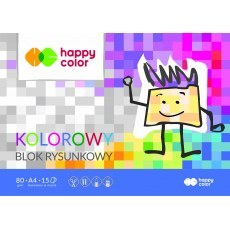 BLOCK FOR DRAWING COLOR A4 HAPPY COLOR 80G