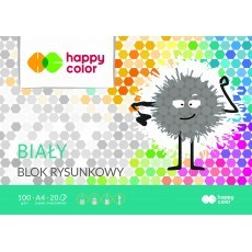 BLOK RYSUNKOWY BIALY A4 HAPPY COLOR 100G
