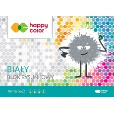 BLOK RYSUNKOWY BIALY A3 HAPPY COLOR 100G
