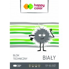 BLOK TECHNICZNY BIALY A3 HAPPY COLOR 170G
