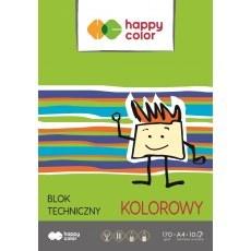BLOK TECHNICZNY KOLOROWY A4 HAPPY COLOR 170G