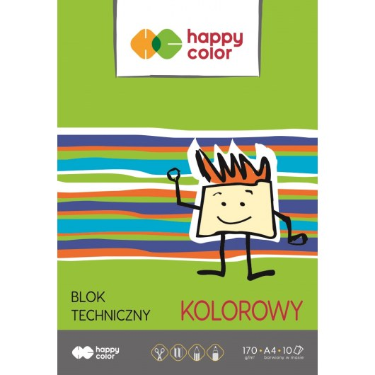 TECHNICAL BLOCK COLOR A4 HAPPY COLOR 170G