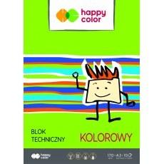 BLOK TECHNICZNY KOLOROWY A3 HAPPY COLOR 170G