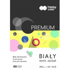 TECHNICAL BLOCK WHITE A4 HAPPY COLOR PREMIUM 250G