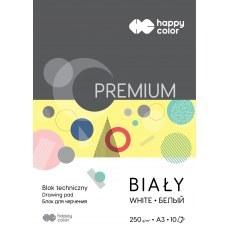 BLOK TECHNICZNY BIALY A3 HAPPY COLOR PREMIUM 250G