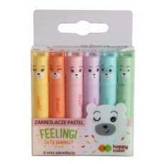 PASTEL MINI FEELINGI HAPPY COLOR 6 PCS