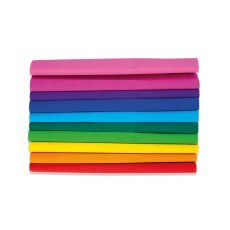 CREASED PAPER RAINBOW HAPPY COLOR 25 X 200 CM 10 PCS