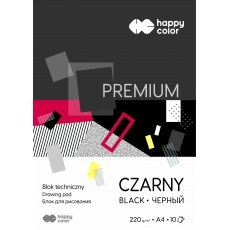 TECHNICAL BLOCK BLACK A4 HAPPY COLOR PREMIUM 220G
