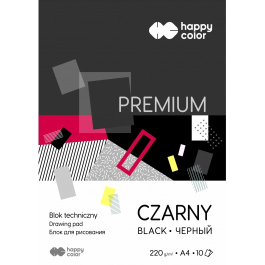 TECHNICAL BLOCK BLACK A4 HAPPY COLOR PREMIUM 220G