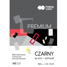 TECHNICAL BLOCK BLACK A3 HAPPY COLOR PREMIUM 220G
