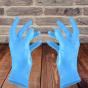 BLUE NITRILE GLOVES POWDER FREE 100 PCS