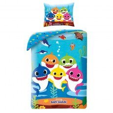 DOUBLE SIDED BEDDING SET 140 X 200 CM BABY SHARK BSH-115BL
