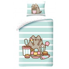 PUSHEEN SWEET SNACKS SINGLE DUVET SET 140 X 200 CM