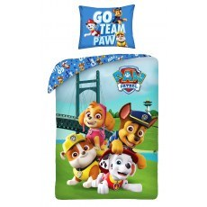 SINGLE DUVET SET 140 X 200 CM PAW PATROL P-410BL