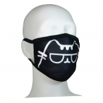 FACE MASK 4PLY EAR LOOP ACTIVE SILVER IONS CAT CLASSIC BLACK